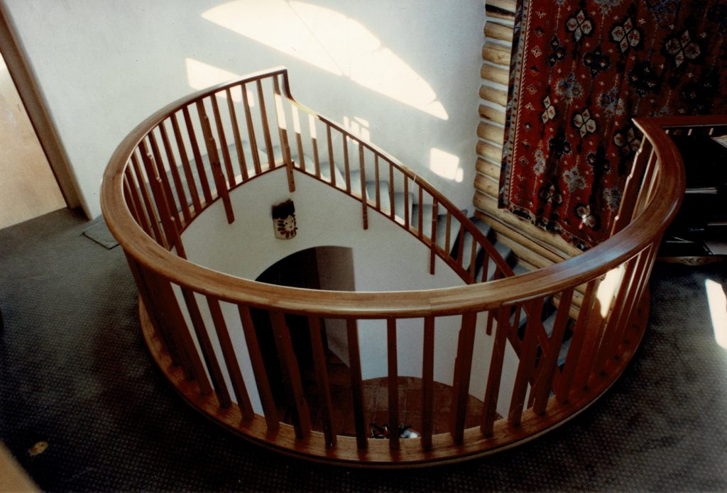 Log H stair
