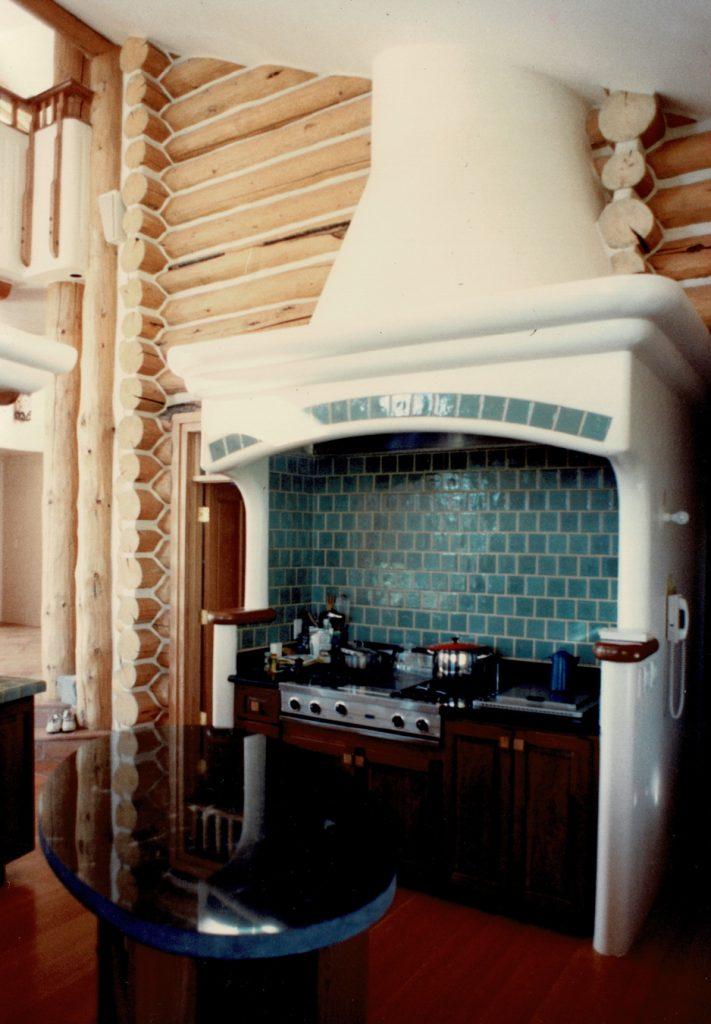 Log H stove