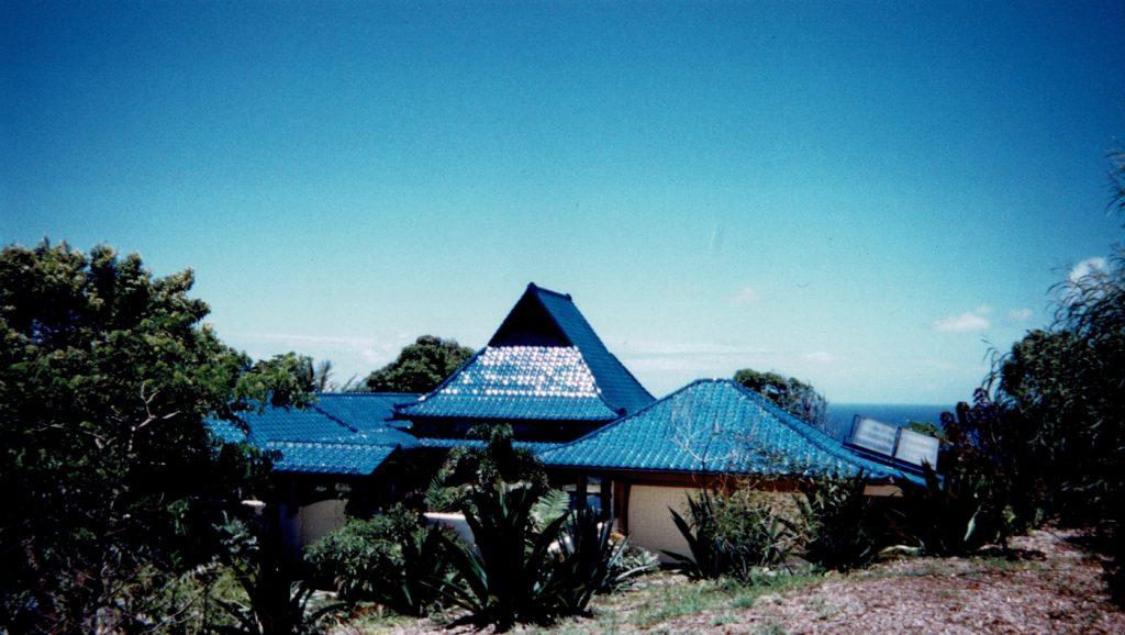 Maui blue roof